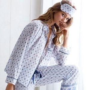 26e133c233fd9 NWT VS PJ Top Sleep Shirt Pajama Button Up Cotton